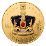 Canada 300 Dollars Queen's 80th Birthday 2006 Proof KM# 679 1926 2006 ER CANADA CS 300 DOLLARS coin reverse