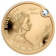 Canada 300 Dollars Queen's Diamond Jubilee 1952-2012 Proof KM# 1195 300 DOLLARS 1952-2012 LM CANADA coin reverse