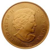 Canada 300 Dollars Shinplaster Vignette of Britannia 2006 Proof KM# 595 ELIZABETH II D ∙ G ∙ REGINA coin obverse