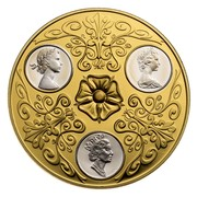 Canada 300 Dollars Triple Cameo Queen Elizabeth II 1952-2002 KM# 501 - coin obverse