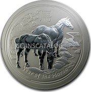 Australia 300 Dollars (Year of the Horse) KM# 2116 YEAR OF THE HORSE P IJ coin reverse