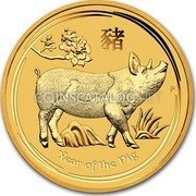 Australia 3000 Dollars (Year of the Pig)  coin reverse