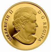 Canada 350 Dollars Iconic Polar Bear 2013 Proof KM# 1499 ELIZABETH II D•G•REGINA coin obverse