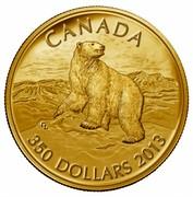 Canada 350 Dollars Iconic Polar Bear 2013 Proof KM# 1499 CANADA 350 DOLLARS 2013 coin reverse