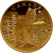 Canada 350 Dollars Imposing Alpha Wolf 2015 Proof CANADA 2015 coin reverse