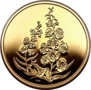 Canada 350 Dollars Yukon Fireweed 2004 Proof CAD coin reverse