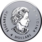 Canada 4 Dollars Fractional Maple Leaf Tribute 2017 Reverse Proof ELIZABETH II D • G • REGINA 4 DOLLARS SB coin obverse