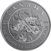 Canada 4 Dollars Queen Victoria 200th Anniversary 2019 Reverse Proof CANADA 1819 2019 9999 FINE SILVER 1/2 OZ ARGENT PUR JC coin reverse