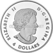 Canada 4 Dollars The Wolf Coin Obverse