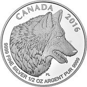 Canada 4 Dollars The Wolf Coin Reverse