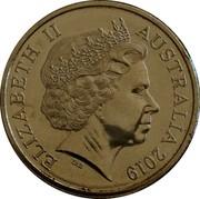 Australia 5 Cents (50th Anniversary Moon Landing) ELIZABETH II AUSTRALIA 2019 IRB coin obverse