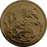 Australia 5 Cents (50th Anniversary Moon Landing) 5 coin reverse