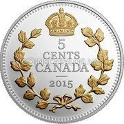 Canada 5 Cents Legacy of the Canadian Nickel: The Crossed Maple Boughs 2015 Proof 5 CENTS CANADA 2015 coin reverse
