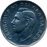 Canada 5 Cents The big Nickel 1951 GEORGIVS VI DEI GRATIA REX coin obverse