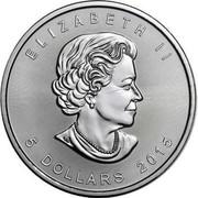 Canada 5 Dollars Grizzly 2015 ELIZABETH II 5 DOLLARS 2015 SB coin obverse
