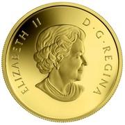 Canada 5 Dollars Grizzly Bear 2014 Proof KM# 1611 ELIZABETH II D ∙ G ∙ REGINA coin obverse