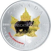 Canada 5 Dollars (Grizzly)  coin reverse