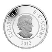 Canada 5 Dollars Howling Wolf 2012 Proof KM# 1132 ELIZABETH II D∙G∙REGINA 2012 coin obverse