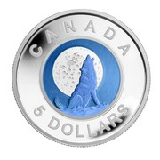 Canada 5 Dollars Howling Wolf 2012 Proof KM# 1132 CANADA JDM 5 DOLLARS coin reverse