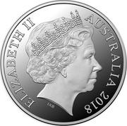 Australia 5 Dollars Invictus Games Sydney 2018 2018 ELIZABETH II AUSTRALIA 2018 IRB coin obverse