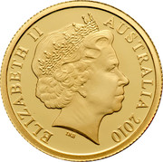Australia 5 Dollars Little Dinkums Cockatoo 2010 ELIZABETH II AUSTRALIA 2010 IRB coin obverse
