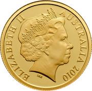 Australia 5 Dollars Little Dinkums Tasmanian Devil 2010 ELIZABETH II AUSTRALIA 2010 IRB coin obverse