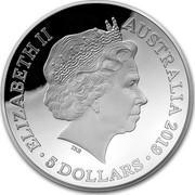 Australia 5 Dollars Map of the World 2019 ELIZABETH II AUSTRALIA 2019 • 5 DOLLARS • IRB coin obverse