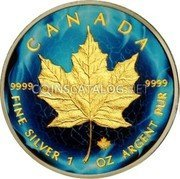Canada 5 Dollars (Maple Leaf - Electric Motive Edition)  coin reverse