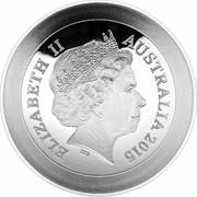 Australia 5 Dollars Netball World Cup 2015 ELIZABETH II AUSTRALIA 2015 coin obverse