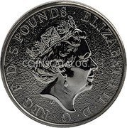 UK 5 Pounds (The Queen's Beasts, Griffin of Edward III) 5 POUNDS ELIZABETH II D·G·REG·F·D coin obverse
