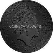 UK 5 Pounds (The Queen's Beasts - Unicorn of Scotland)  coin obverse