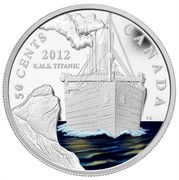 Canada 50 Cents 100th Anniversary of Titanic 2012 Proof KM# 1234 50 CENTS CANADA 2012 R.M.S TITANIC coin reverse