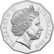 Australia 50 Cents A Legend of Steam 2018 UNC ELIZABETH II AUSTRALIA 2018 IRB coin obverse