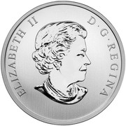 Canada 50 Cents Christmas Tree - Lenticular Coin 2014 Proof KM# 1775 ELIZABETH II D ∙ G ∙ REGINA coin obverse
