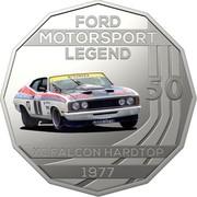 Australia 50 Cents Ford High Octane - 1977 XC Falcon Hardtop 2018 CoinCard FORD MOTORSPORT LEGEND 50 XC FALCON HARDTOP 1977 coin reverse