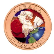 Canada 50 Cents Gifts From Santa - Lenticular 2011 KM# 1191 CANADA 50 CENTS 2011 coin reverse