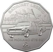 Australia 50 Cents Holden High Octane - 1968 HK Monaro GTS 327 2018 CoinCard BATHURST LEGEND 1968 50 HK MONARO GTS 327 HOLDEN coin reverse