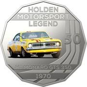 Australia 50 Cents Holden High Octane - 1970 HT Monaro GTS 350 2018 CoinCard HOLDEN MOTORSPORT LEGEND 50 HT MONARO GTS 350 1970 coin reverse