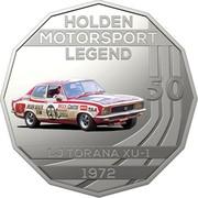 Australia 50 Cents Holden High Octane - 1972 LJ Torana XU-1 2018 HOLDEN MOTORSPORT LEGEND 50 LJ TORANA XU-1 1972 coin reverse