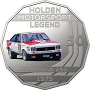 Australia 50 Cents Holden High Octane - 1979 LX Torana A9X 2018 CoinCard HOLDEN MOTORSPORT LEGEND 50 LX TORANA A9X 1979 coin reverse