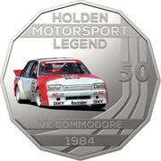 Australia 50 Cents Holden High Octane - 1984 VK Commodore 2018 CoinCard HOLDEN MOTORSPORT LEGEND 50 VK COMMODORE 1984 coin reverse