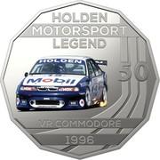 Australia 50 Cents Holden High Octane - 1996 VR Commodore 2018 CoinCard HOLDEN MOTORSPORT LEGEND 50 VR COMMODORE 1996 coin reverse