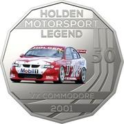 Australia 50 Cents Holden High Octane - 2001 VX Commodore 2018 CoinCard HOLDEN MOTORSPORT LEGEND 50 VX COMMODORE 2001 coin reverse
