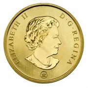 Canada 50 Cents Holiday Ornaments 2007 Specimen, Lenticular ELIZABETH II D ∙ G ∙ REGINA coin obverse
