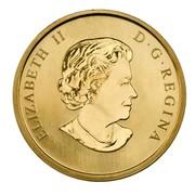 Canada 50 Cents Holiday Toy Train 2009 KM# 1035 ELIZABETH II D∙G∙REGINA coin obverse