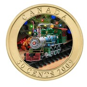 Canada 50 Cents Holiday Toy Train 2009 KM# 1035 CANADA 50 CENTS 2009 coin reverse