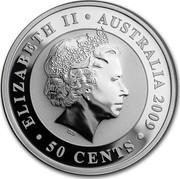 Australia 50 Cents Koala 2009 Proof ELIZABETH II AUSTRALIA 2009 IRB 50 CENTS coin obverse