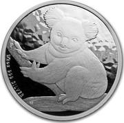 Australia 50 Cents Koala 2009 Proof 1/2 OZ 999 SILVER coin reverse