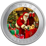 Canada 50 Cents Santa's Magical Visit - Lenticular Coin 2012 Specimen KM# 1341 CANADA 50 CENTS 2012 coin reverse