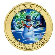 Canada 50 Cents Snowman 2008 Prooflike KM# 779 CANADA 50 CENTS 2008 coin reverse